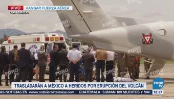 Trasladan a México dos heridos por erupción