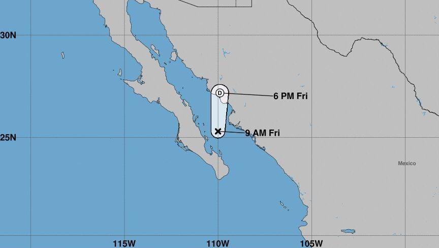 'Bud' se degrada a depresión tropical en Baja California Sur