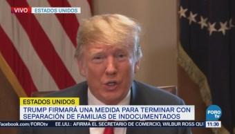 Trump confirma que planea resolver separación de familias migrantes