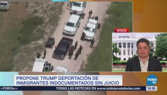 Trump propone deportación de inmigrantes indocumentados sin juicios