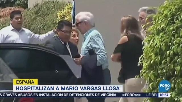 Vargas Llosa sufre caída y es hospitalizado