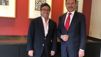 Videgaray se reúne con el presidente del BID, Luis Alberto Moreno