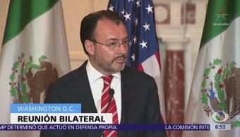 Videgaray se reúne con la secretaria de Seguridad Interior de EU