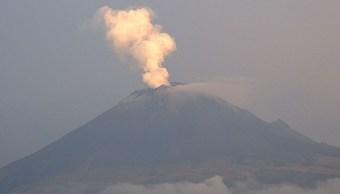 Volcán Popocatépetl emite 19 exhalaciones de baja intensidad