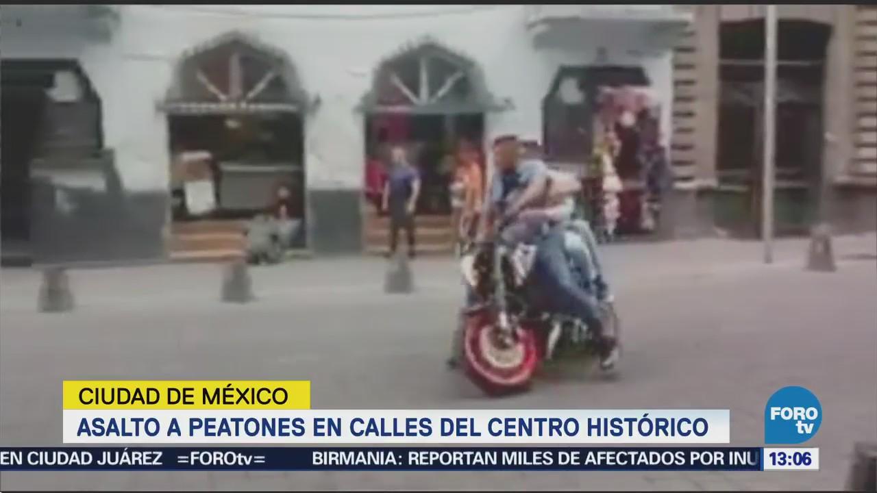 Asalto Peatones Calles Centro Histórico Cdmx
