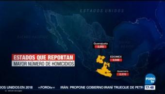 2017 Año Más Homicidios México Inegi