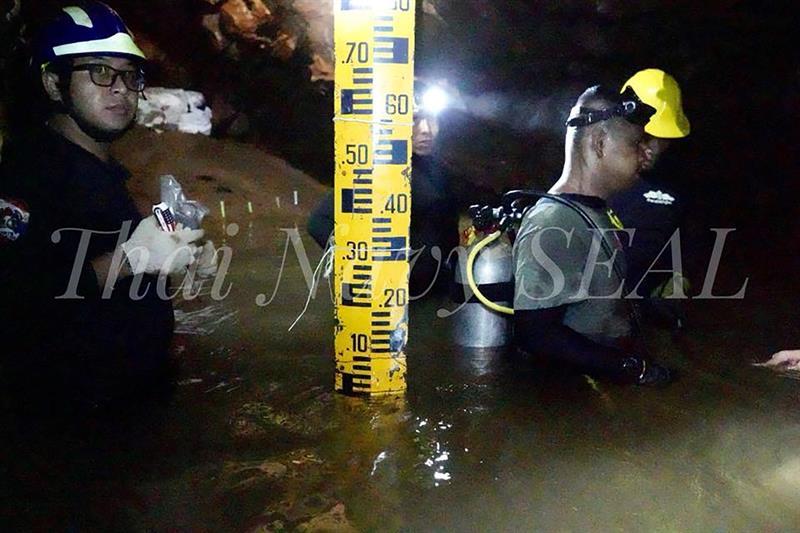 Tailandia: bajó el oxígeno en la cueva donde están atrapados los chicos