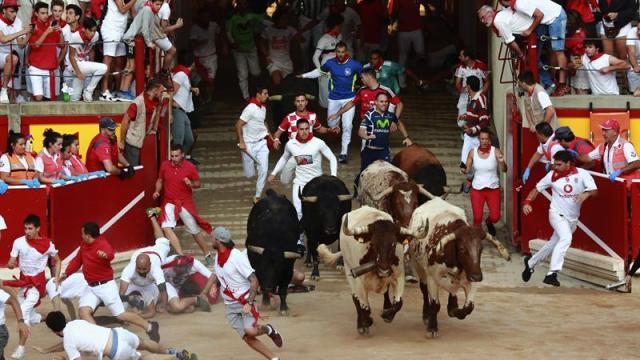 Cuarto encierro de San Fermín: Rápido y sin cornadas