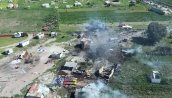 Distancia entre polvorines provoca explosiones en Tultepec