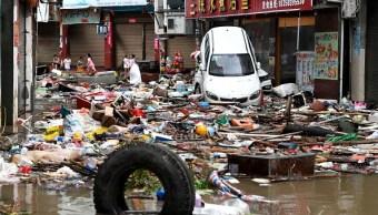 Tifón María deja devastación en China