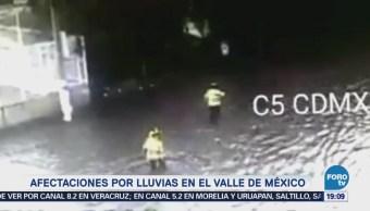 Afectaciones Lluvias Valle De México CDMX