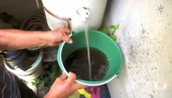 vecinos ciudad nezahualcoyotl reciben agua contaminada y olor fetido