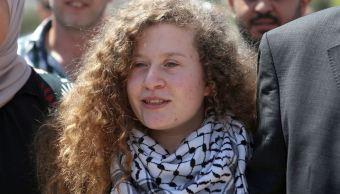 Joven palestina que abofeteó a soldados israelíes
