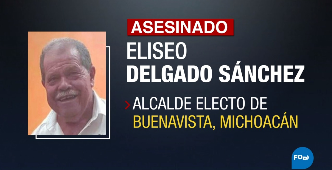 Asesinan en Michoacán a Eliseo Delgado, alcalde electo de Morena
