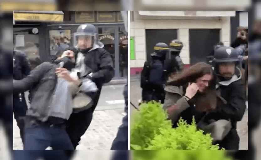 Detienen al jefe de seguridad de Macron que golpeó a manifestantes