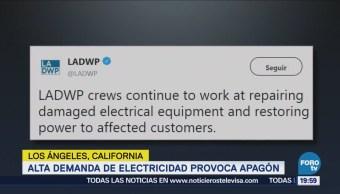 Alta Demanda Electricidad Provoca Apagón Los Ángeles