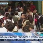 AMLO Se Reúne Senadores Diputados Electos Morena