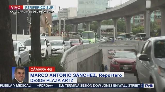 Congestión Vial Periférico Trabajos Plaza Artz