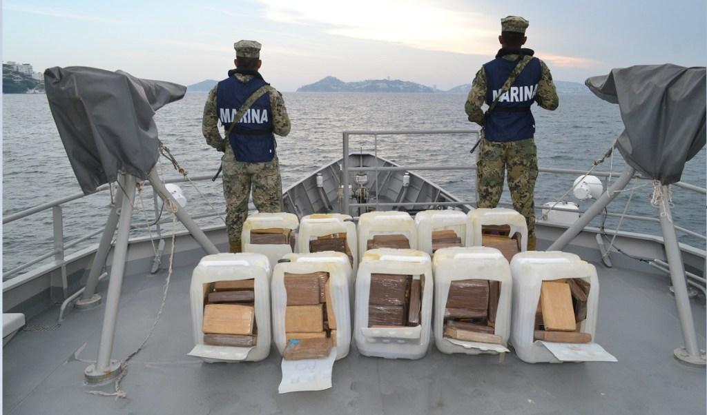 Investigan el origen de 250 kilos de cocaína asegurados en Acapulco