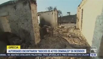 Autoridades Grecia Encuentran Indicios Actos Criminales Incendios
