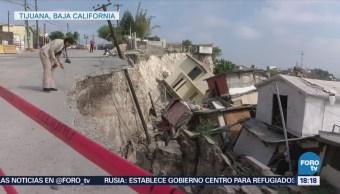 Autoridades Realizan Estudios Sobre Deslizamiento Tijuana