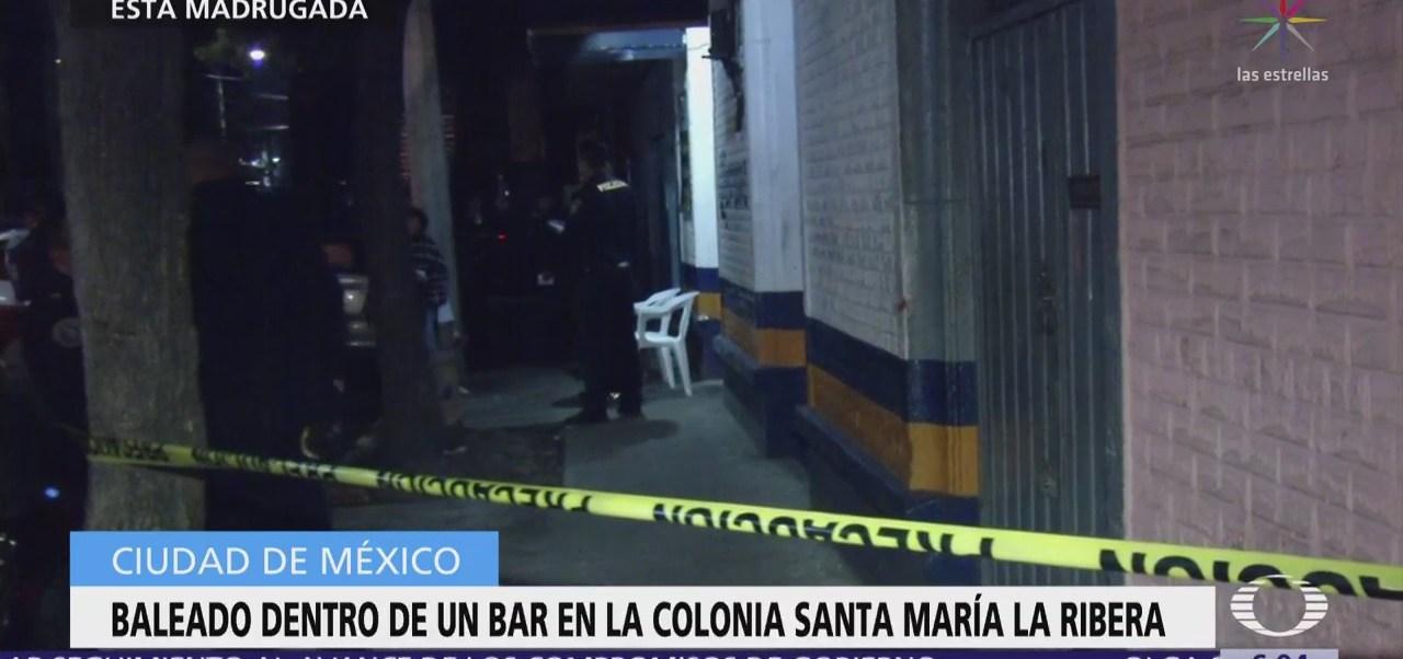 Balean a hombre dentro de bar en Santa María La Ribera, CDMX