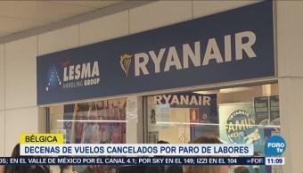 Bélgica sufre segundo día de huelga en aerolínea Ryanair