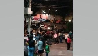 Bloquean avenida Observatorio tras sismo Magdalena Contreras
