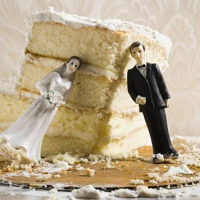 Novia pide el divorcio tres minutos después de casarse