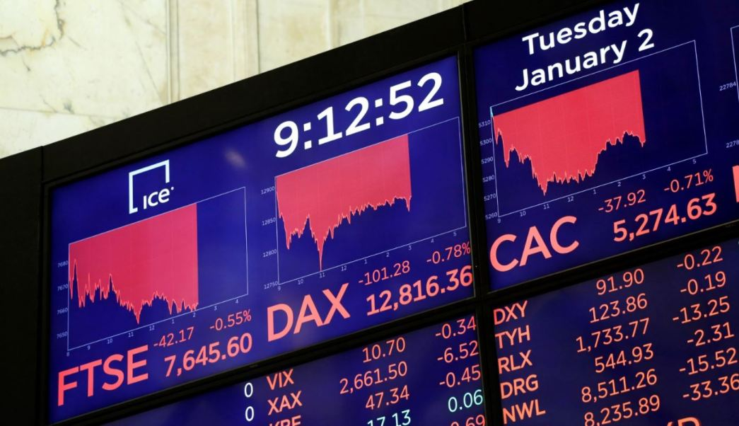 Bolsas de Europa cierran con baja, cae sector tecnología