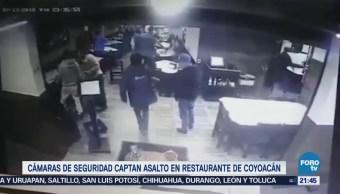 Cámaras Captan Asalto Restaurante Coyoacán CDMX