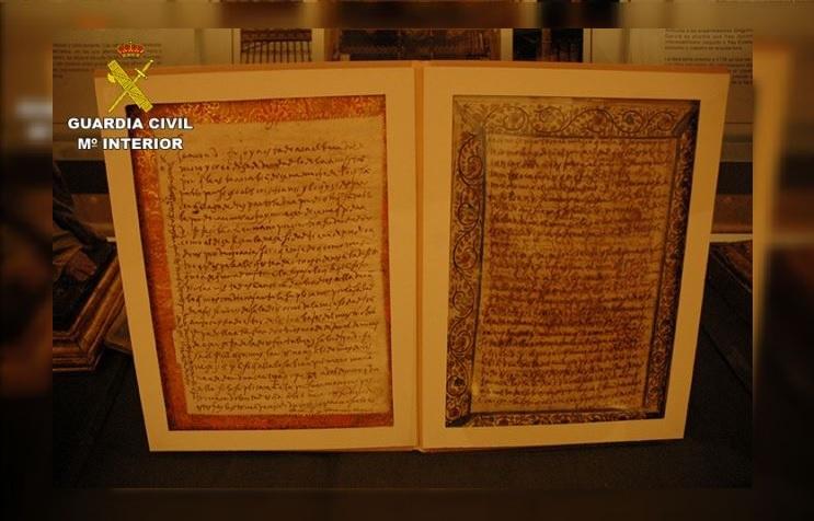 Recuperan obras de arte, entre ellas cartas de Santa Teresa