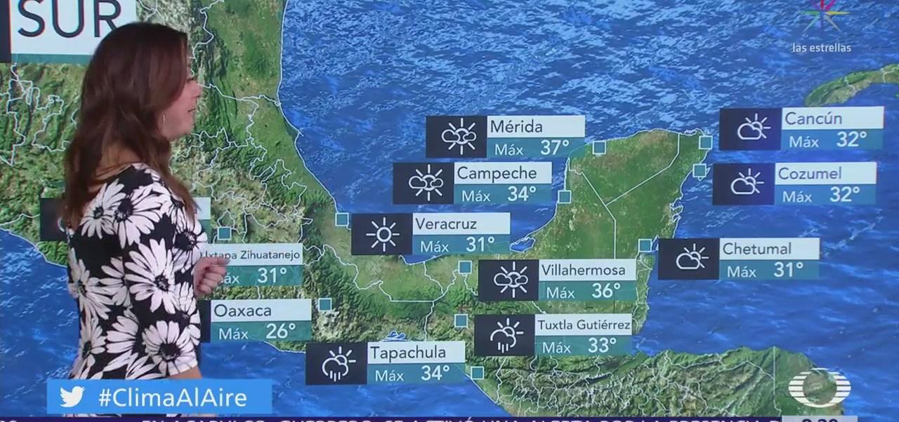 Clima Al Aire: Prevén tormentas en Veracruz, Oaxaca y Chiapas