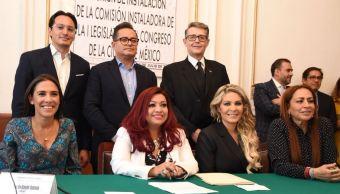 Instalan comisión para proceso de transición a Congreso CDMX
