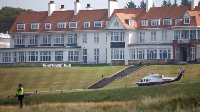 Estancia de Trump en Escocia costó 59 mil euros