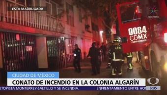 Conato de incendio en la colonia Alagarín, CDMX