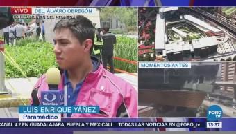 Confunden derrumbe en plaza Artz Pedregal con temblor