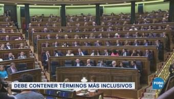 Constitución Inclusiva España Lenguaje Inclusivo Machismo