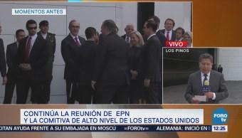 Continúa la reunión entre Mike Pompeo con Peña Nieto