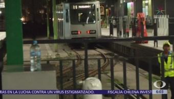 Continúan obras de mantenimiento en vías de Tren Ligero, CDMX