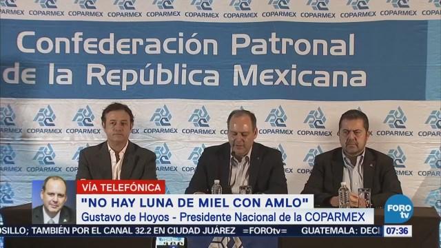 Coparmex: Habrá trato institucional respetuoso López Obrador