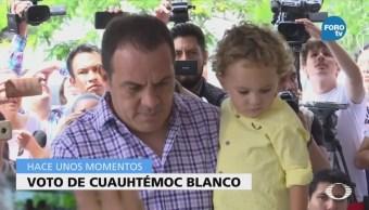 Cuauhtémoc Blanco emite su voto en Morelos