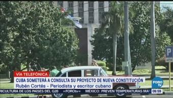 Cuba Someterá Consulta Proyecto Nueva Constitución