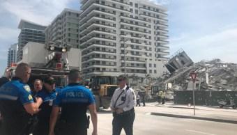 Colapsa un edificio en Miami Beach; hay un herido