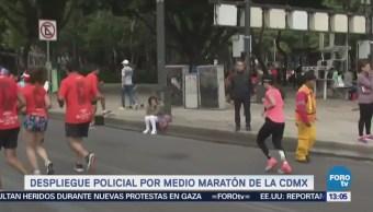 Despliegue Policial Medio Maratón Cdmx