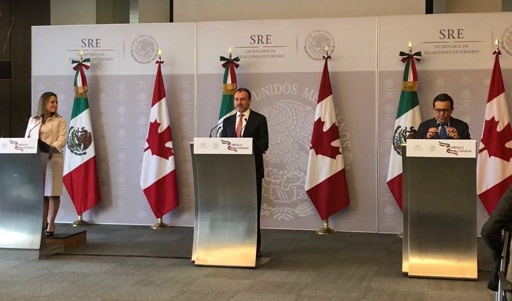 México y Canadá refrendan carácter trilateral del TLCAN