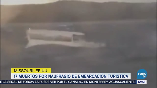 Difunden video del naufragio en Missouri