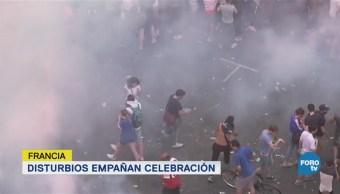 Disturbios Empañan Celebración Francia París Mundial