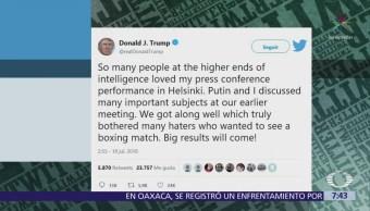 Donald Trump asegura que saldrán 'cosas positivas'
