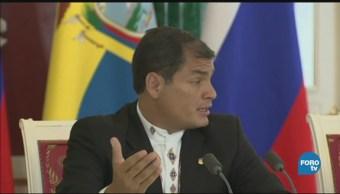 Ecuador pide aprehender a expresidente Rafael
